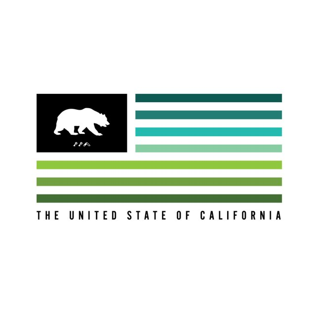 retro california flag clean graphic design by kikicutt