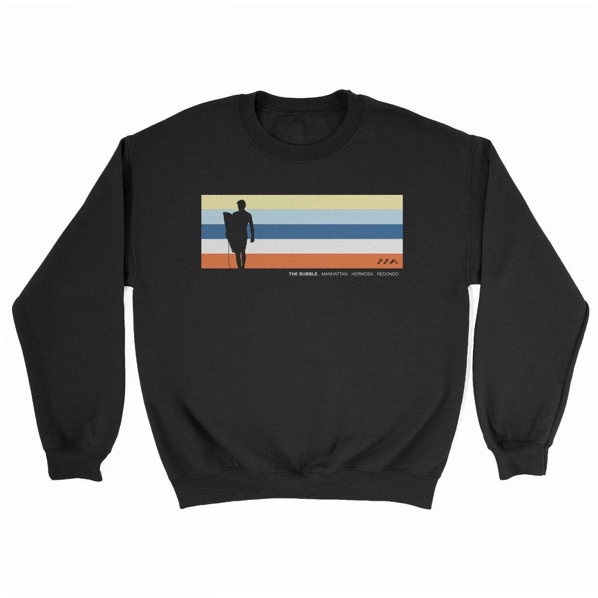 the bubble manhattan hermosa redondo beach sweatshirt in black by kikicutt sweatshirt store