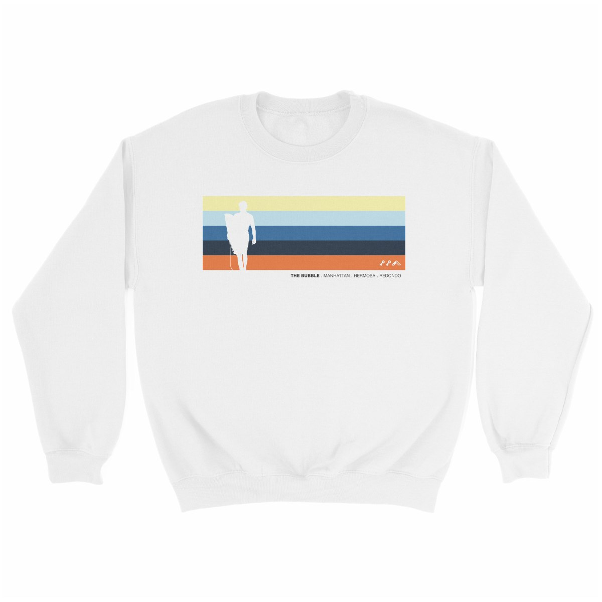 the bubble redondo hermosa manhattan beach sweatshirt in white by kikicutt sweatshirt store