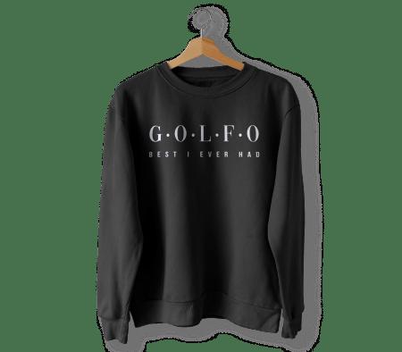 Golfo Sweater Front Black Kopie