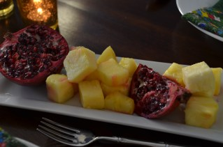 pomegranates + pineapple
