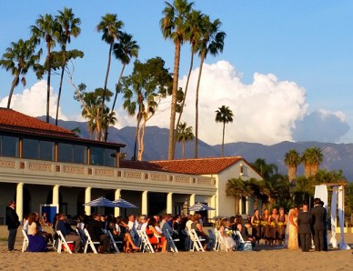 Santa Barbara wedding day on the beach