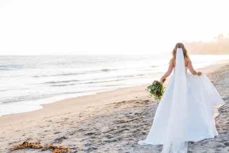 Santa Barbara Wedding Bride Butterfly Beach