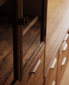 リビング収納-TVボード&ガラスキャビネットのオーダー