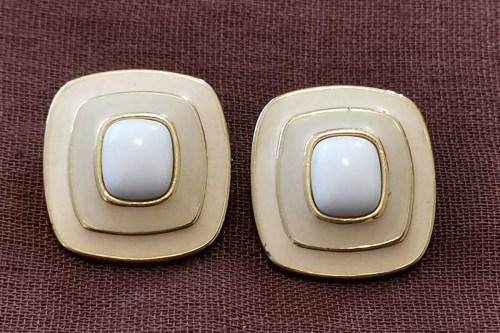 trifari-enamel-earrings