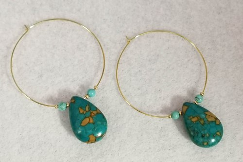 teardrop-turquoise-hoop-earrings