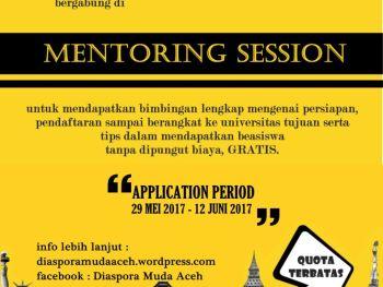 Pendaftaran Mentoring Diaspora Muda Aceh 2017 DIBUKA!