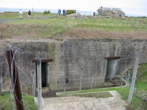 German fortifications at Pointe de Hoc