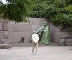 FDR with Fala, FDR Memorial, Washington, DC