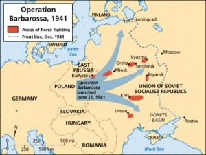 German attack on Russia, June 21/22, 1941
