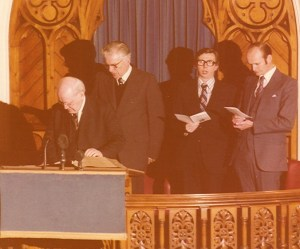 Induction, January 1976 - Dr. Lloyd Jones, Rev P. Culver, HK, Mr. Graham Lawrence