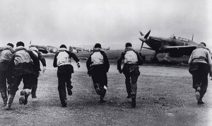 Battle of Britain pilots scrambling - 1940