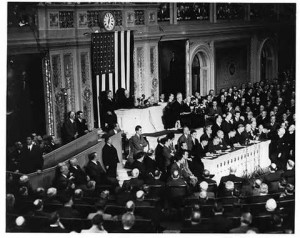 "FDR ""day of infamy"" speech to Congress"