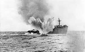U-boat attack on merchant ship