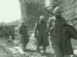 Indian Sikh soldiers at Monte Cassino