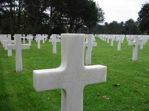 American Cemetery above Omaha Beach