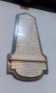 John Newton's epitaph in St. Mary Woolnoth Church