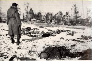 Scene at site of Malmedy massacre