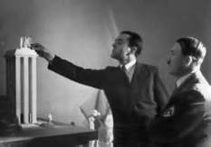 Albert Speer and Hitler with one of his models