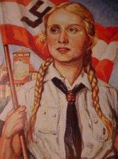 Hitler Youth Girl Poster