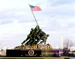 Iwo Jima flag raising memorial in Washington, DC
