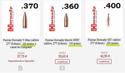 Hornady 6.8 spc bullets