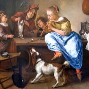 from Jan Steen, Children Teaching a Cat to Dance, c.1660–1679