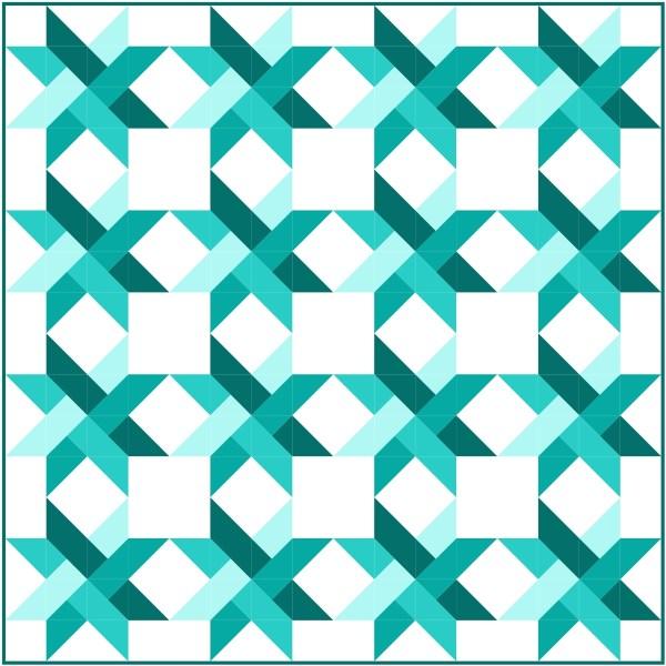 Star Weave Quilt Pattern mock up