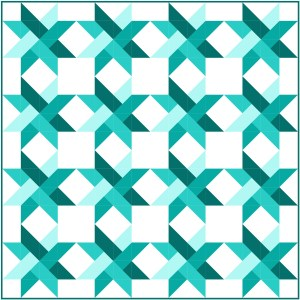 Star Weave Quilt Pattern mock up
