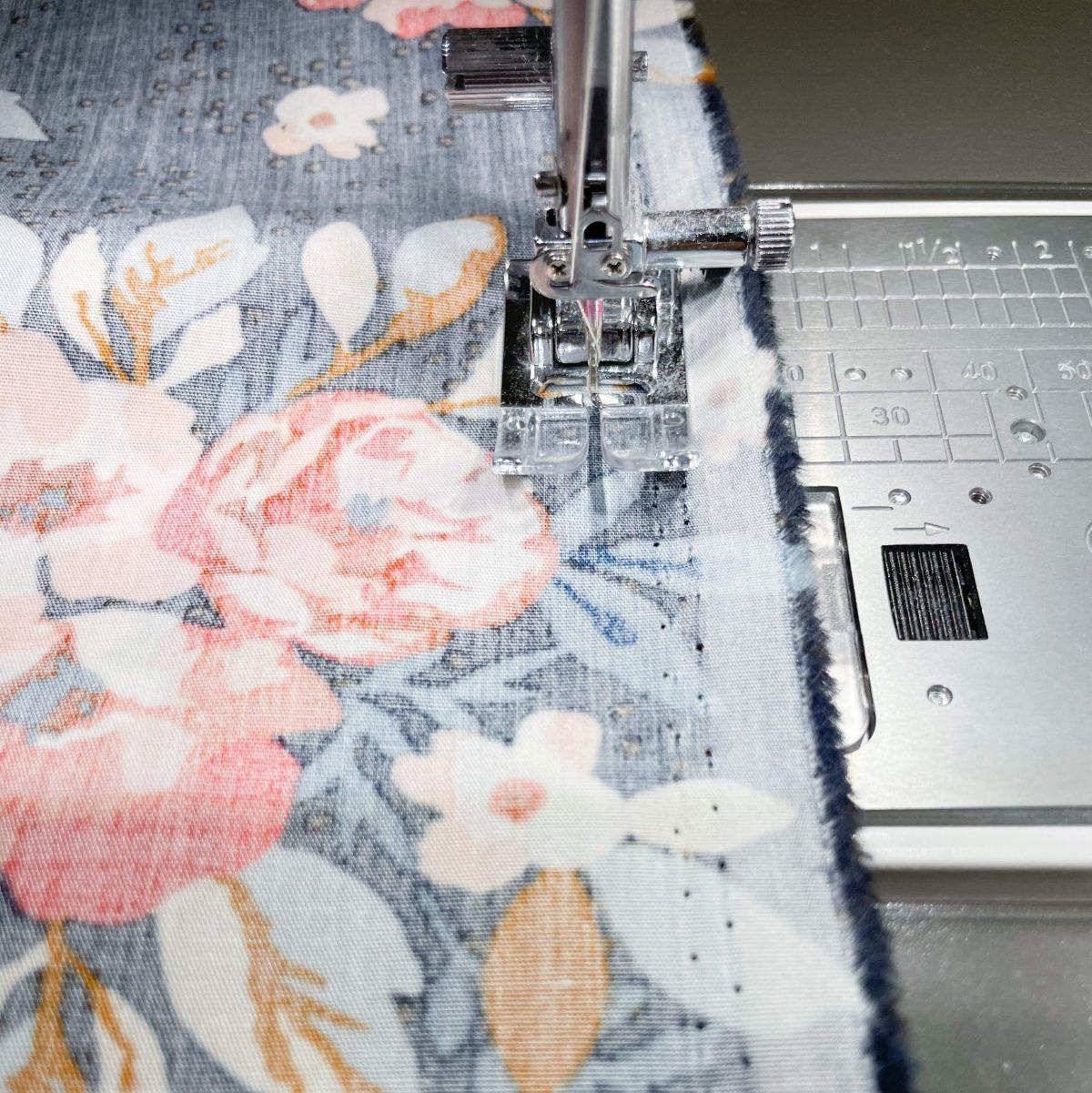 Sew along pinned edge.