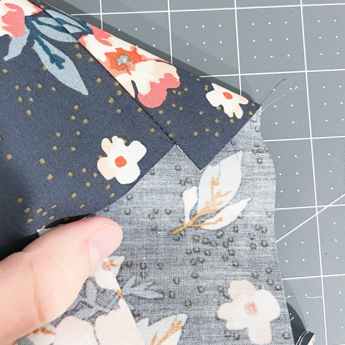 Quilt edges need to be squared and evened.