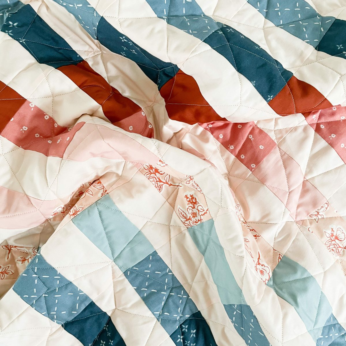 the quilted quilt top
