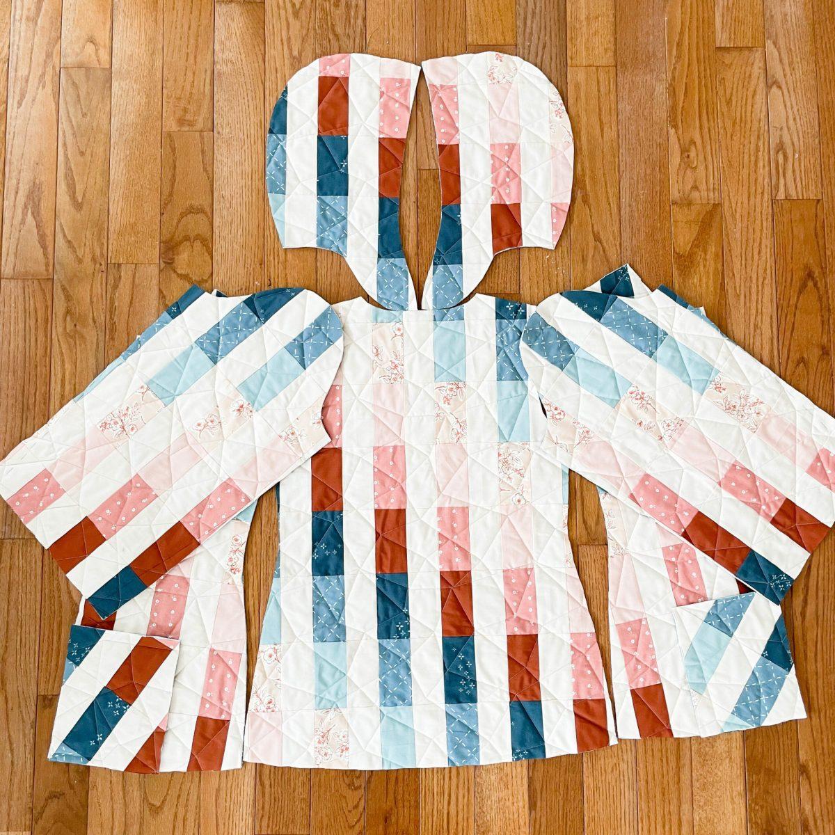 jacket pieces on floor