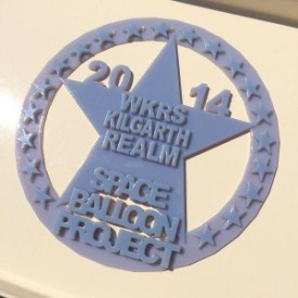 Our Space Patch made using 3D printer