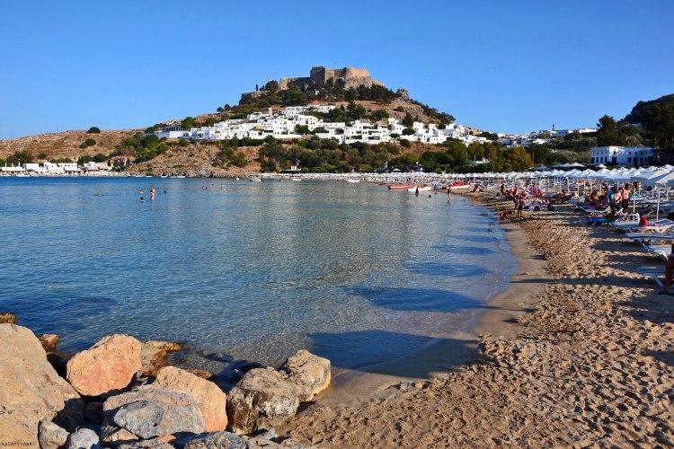 8 spiagge imperdibili sull'isola di Rodi: la spiaggia di lindos
