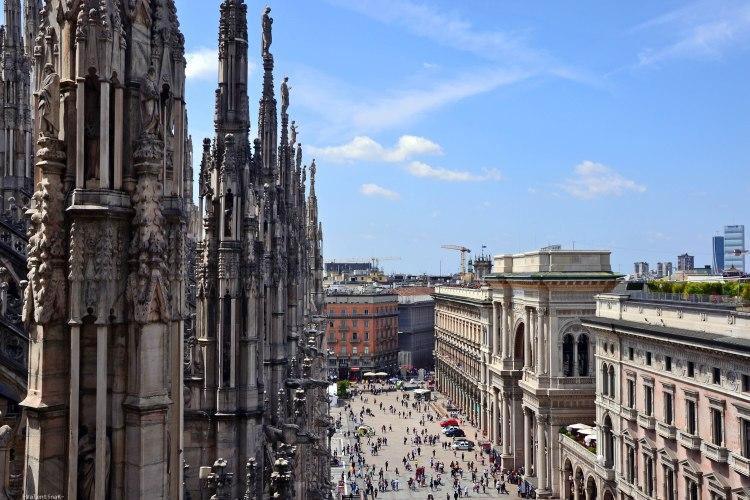 Panorama dalle Terrazze del Duomo verso la Galleria Vittorio Emanuele II