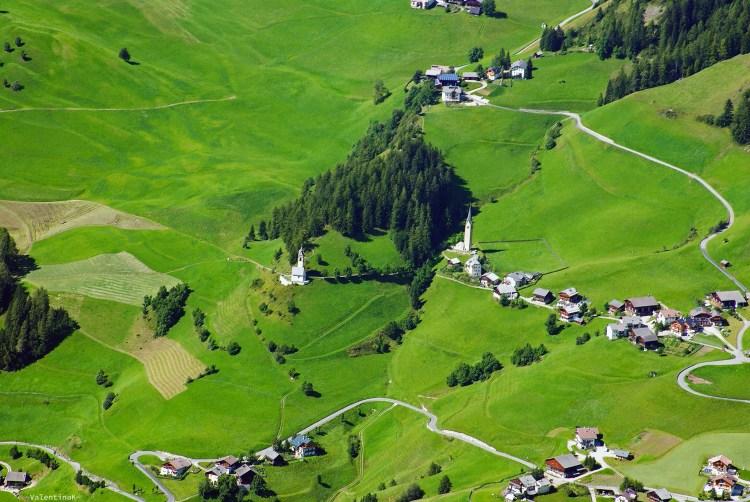 ABC dell'Alta Badia: veduta area de la valle
