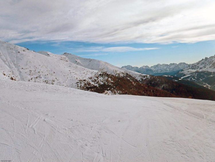 val pusteria in inverno cose da fare: pista innevata al monte elmo