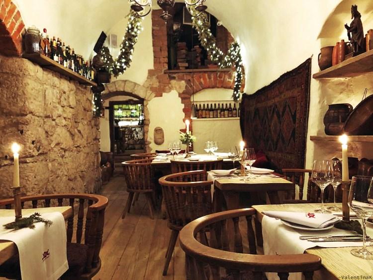 il bellissimo ristorante pod aniolami, a tema natale