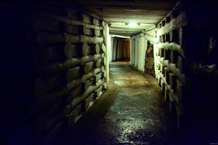 una delle gallerie della miniera di sale di wieliczka