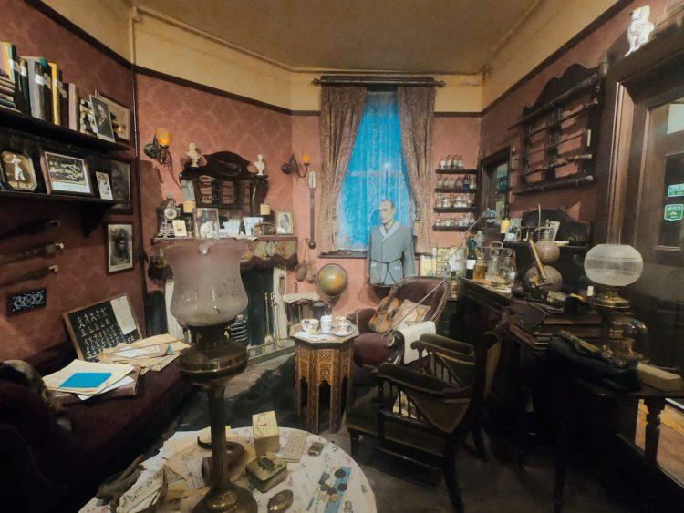 dove mangiare a londra: il museo di sherlock holmes all'interno dello sherlock holmes pub