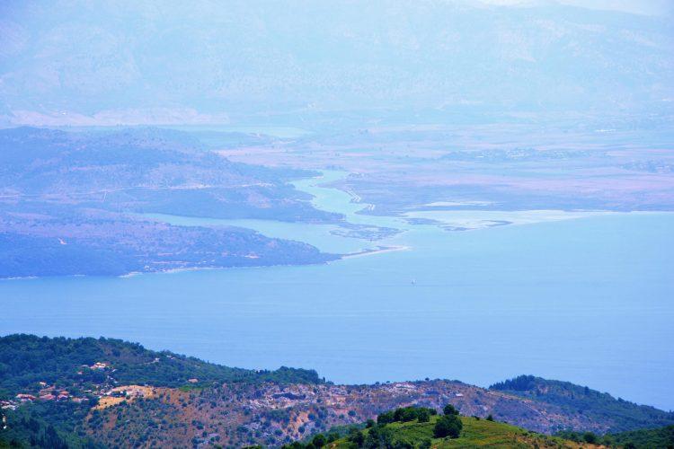 panorama dal pantokrator sul mare