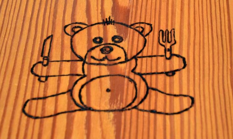 L'orsetto del menù dela tana dell'orso di oies