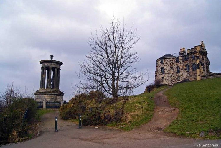 monumenti a calton hill a edimburgo città