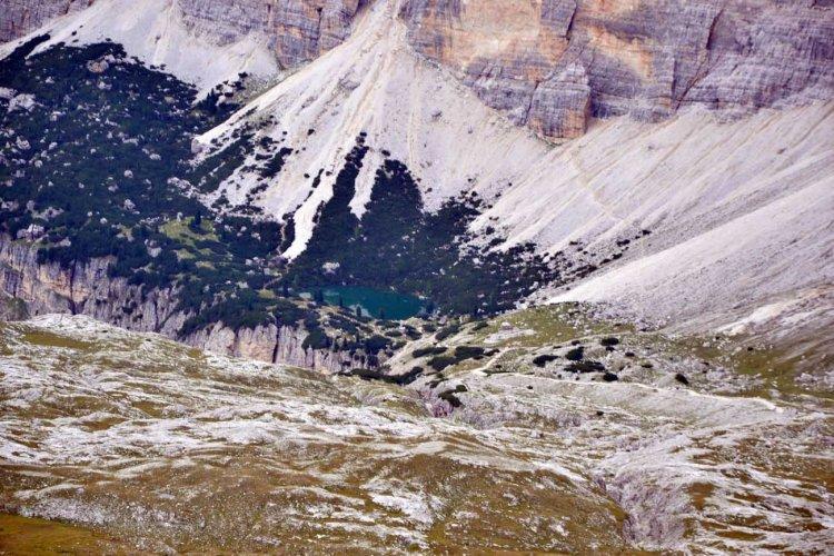 escursione alle gallerie del lagazuoi: panorama sul lago lagazuoi