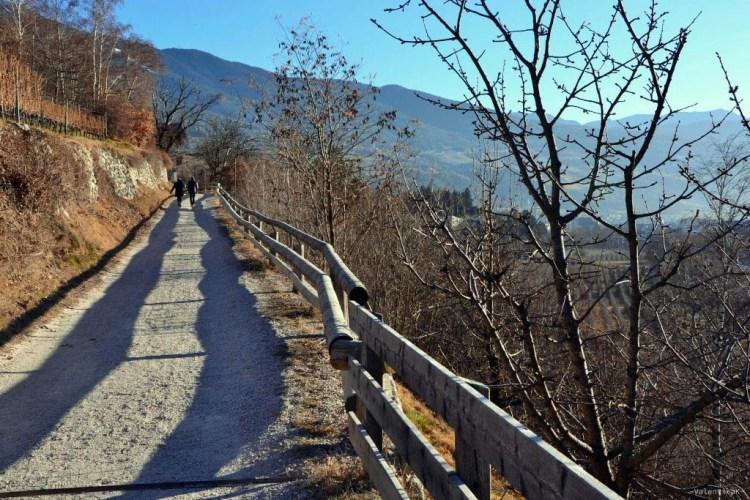 suggestivo sentiero che da Bressanone porta a Varna