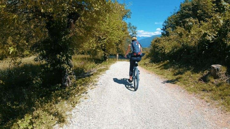 Da Riva del Garda al lago di Ledro in bicicletta: il ritorno sulla ciclabile