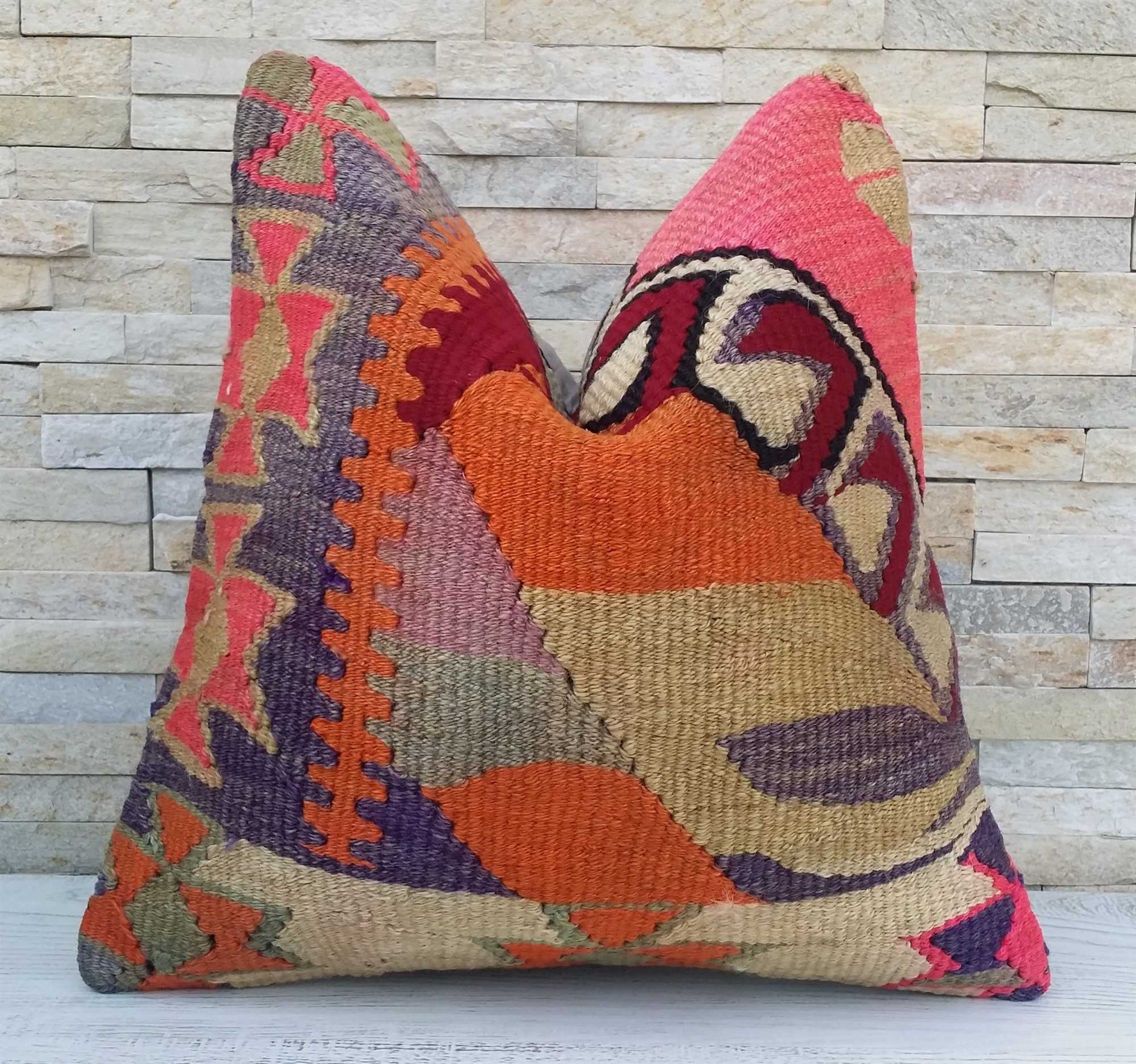vintage turkish kilim pillow for the living room boho throw pillow and rustic boho chic cushion cover