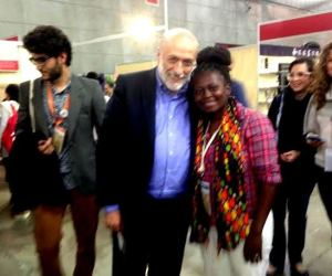 SAT director Janet Maro with Slow Food founder Carlo Petrini
