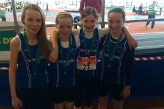 U13 girls relay